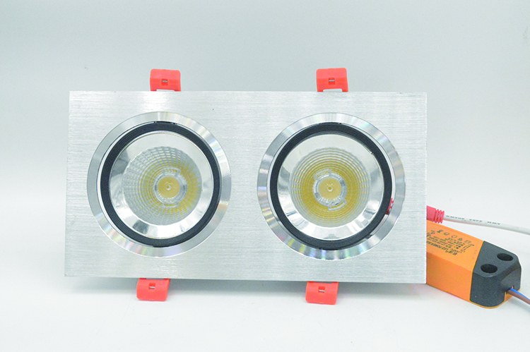 small power and high power LED Grille light with two heads